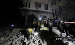 ست مروحيات تناوبت على قصف معرة النعمان ليل أمس
