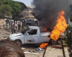 ضحايا في انفجار مفخخة وسط اعزاز