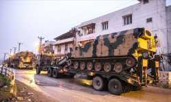 بعد التهديد بعملية عسكرية واسعة .. الجيش التركي يدفع بمزيد من التعزيزات نحو الحدود مع سوريا