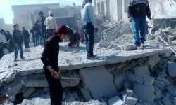 غارة فراغية تخلف مجزرة في معرة النعمان جنوبي إدلب