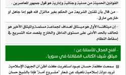 تغريدات أبو عبد الملك الشرعي حول ميثاق شرف الكتائب المقاتلة في سوريا