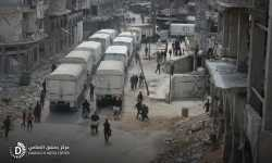 بالصور .. قافلة مساعدات تصل إلى دوما بريف دمشق