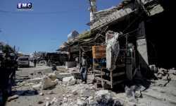 قصف روسي-أسدي على مناطق سكنية في ريفي إدلب وحلب