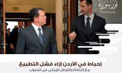 إحباط في الأردن إزاء فشل التطبيع مع النظام والتوغل الإيراني في الجنوب