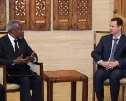 أنان التقى الأسد في دمشق ودعاه لاتخاذ «خطوات جريئة» لوقف العنف