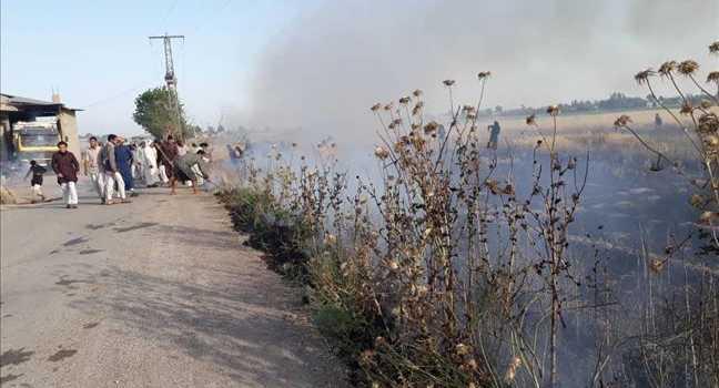 استمرار اندلاع الحرائق في مناطق سيطرة