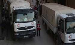دخول قافلة مساعدات إنسانية إلى الرستن بريف حمص
