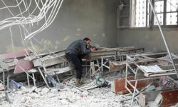 حلب: تعديل توقيت الامتحانات وفق أوقات الغارات الروسية