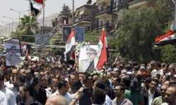 تشييع المسؤولين الأمنيين بغياب الأسد