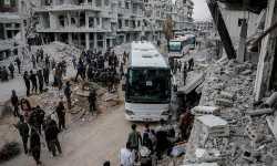 الدفعة الثانية عشرة من مهجري الغوطة تصل إلى الشمال السوري