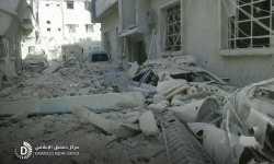 جحيم القصف يشتعل مجدداً في الغوطة.. 100 غارة جوية على دوما وحدها