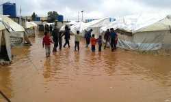 السيول تغرق مخيمات النازحين في الشمال