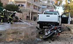 7 قتلى جراء انفجار دراجة نارية مفخخة وسط إدلب