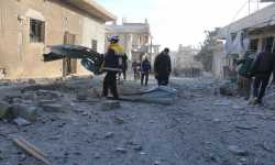 إدلب تحت القصف: ثلاثة شهداء وعشرات الجرحى في قصف جوي وصاروخي