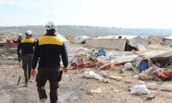 مجزرة جديدة: روسيا تستهدف مخيماً للنازحين جنوب إدلب