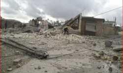 تقرير: مروحيات النظام ألقت أكثر من 400 برميل متفجر خلال يناير الماضي، معظمها على إدلب