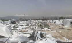 الجيش اللبناني يهدم مخيماً للاجئين السوريين في البقاع