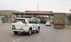 قافلة مساعدات أممية تدخل إدلب عبر باب الهوى