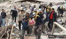 القصف مستمر على إدلب .. ضحايا جراء قصف بالصواريخ الفراغية