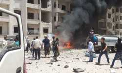 ضحايا في انفجار سيارة مفخخة وسط إدلب (صور)