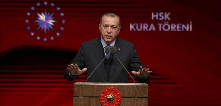 أردوغان يتوعد بتحرير الشريط الحدودي شمال سوريا