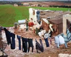 أبنية قيد الإنشاء ملاجئ للنازحين بسوريا