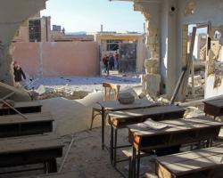 بسبب القصف الهستيري..تعليق الدوام في مدارس إدلب