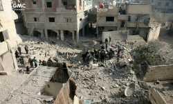 الصواريخ المظلية تودي بحياة أكثر من 20 شهيداً في الغوطة الشرقية