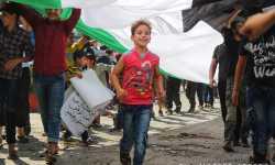 مظاهرات حاشدة بمناسبة الذكرى الثامنة للثورة السورية