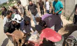 مجزرة للطيران الحربي في قرية مشمشان بريف إدلب