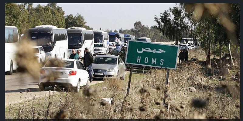 بعد قبولهم بالتسوية: مئات من مهجري الوعر يصلون تادف تمهيدا لإعادتهم إلى حمص