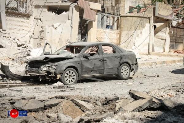مجزرة جديدة للطيران الروسي في مدينة إدلب
