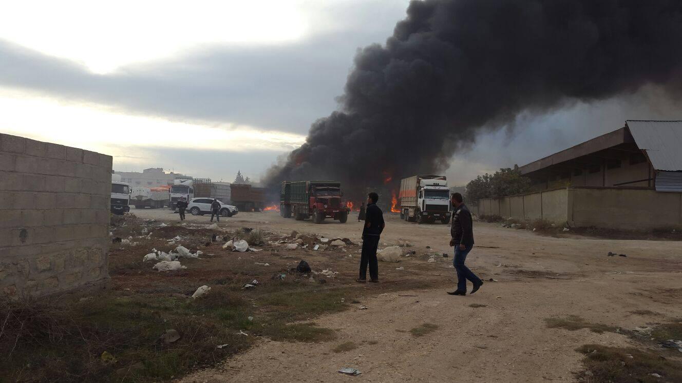 الطيران الروسي يرتكب مجزرة في قرية رسم الحمام بريف حلب الشرقي