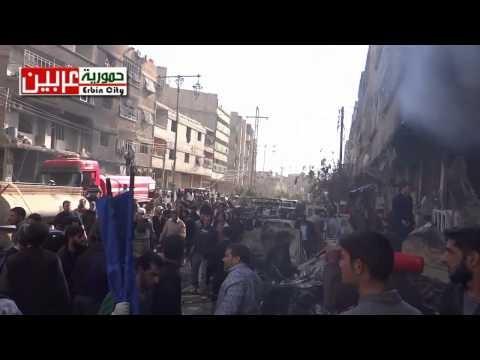 أخبار سوريا_ أكثر من 60 قتيلاً في مجزرة ارتكبتها قوات الأسد في حمورية بريف دمشق، وجيش الإسلام يتوعد بإمطار دمشق بمئات الصواريخ_ (23/22-1- 2015)