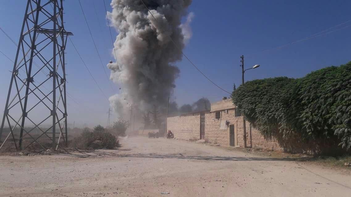 انفجار قوي في مستودع ذخيرة لميلشيات النظام غرب حماة، وأبو عمارة تتبنّى