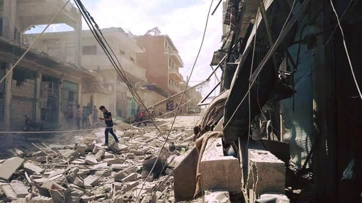 قتلى وجرحى جراء انفجار انتحاري استهدف مقراً لحركة أحرار الشام بريف إدلب