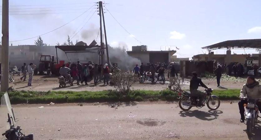 طيران النظام يرتكب مجزرة بحق المدنيين في بلدة طفس بريف درعا