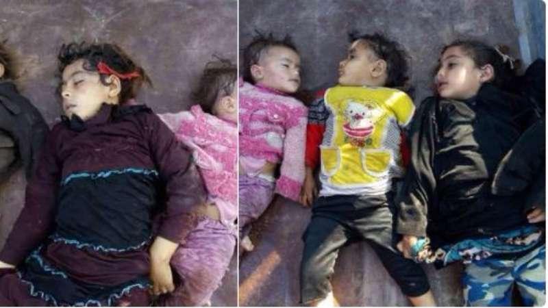 بالغازات السامة: الطيران الروسي يقتل أكثر من 100 شخص في ريف حماة