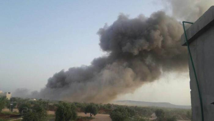 قتلى وجرحى جراء انفجار مستودع ذخيرة بريف حلب الشمالي على الحدود التركية