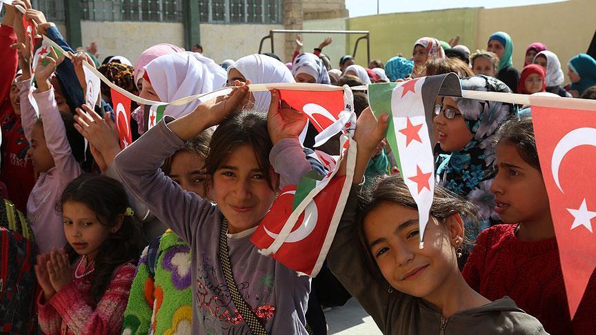جمعية التضامن التركية تفتتح ثلاث مدارس إضافية في مدينة الباب