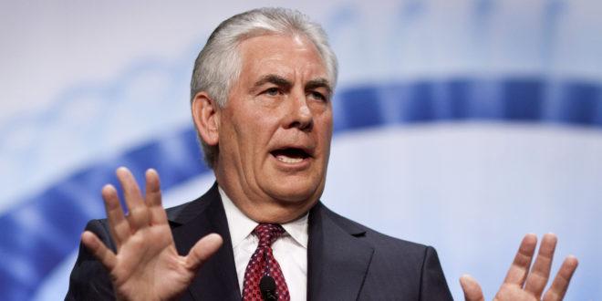 تيلرسون: لا نحتاج تفويضاً من الكونغرس لعمل عسكري ضد الأسد