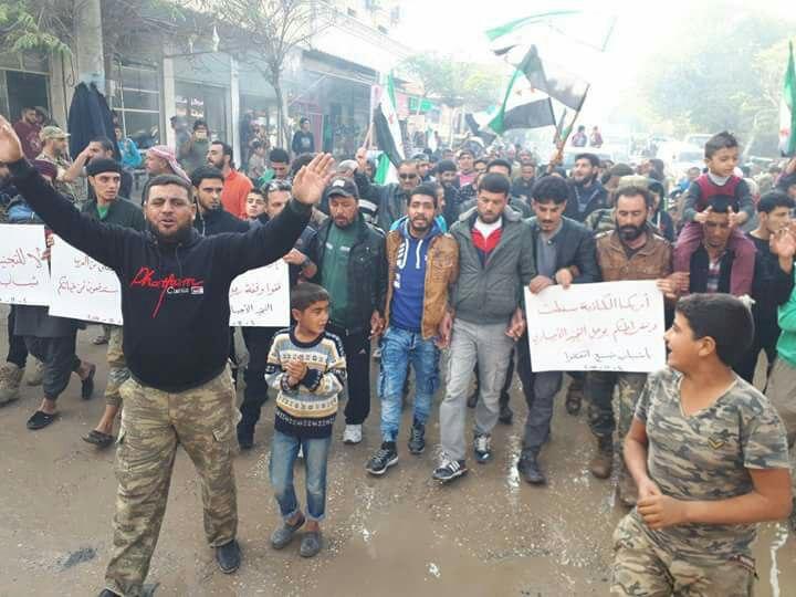 المظاهرات تعم منبج وريفها، والمليشيات الكردية تتخذ إجراءات تعسفية