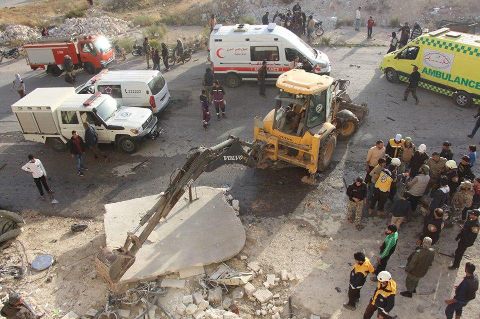 مفخخة تستهدف مركزاً دعوياً في إدلب