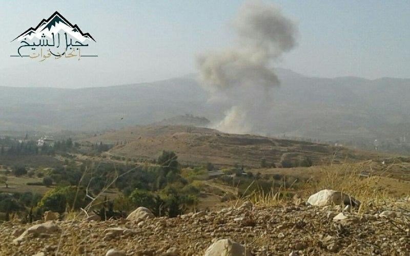 النظام يقصف قرى جبل الشيخ بالكلور السام