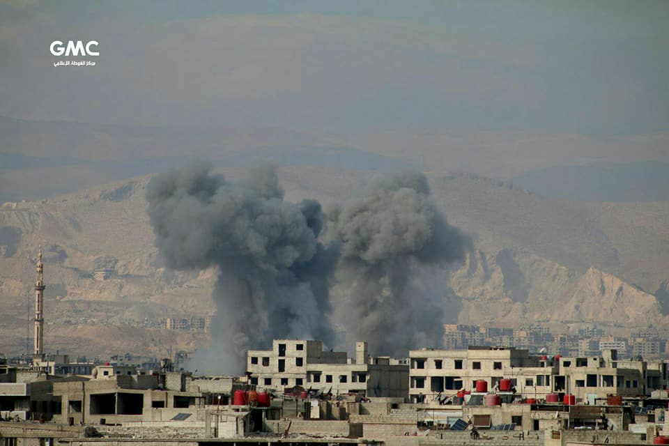 نشرة أخبار سوريا- أكثر من 70 غارة جوية في الغوطة، والمؤتمرون في الرياض ينتخبون أعضاء جدد لهيئة المفاوضات  -(23-11-2017)