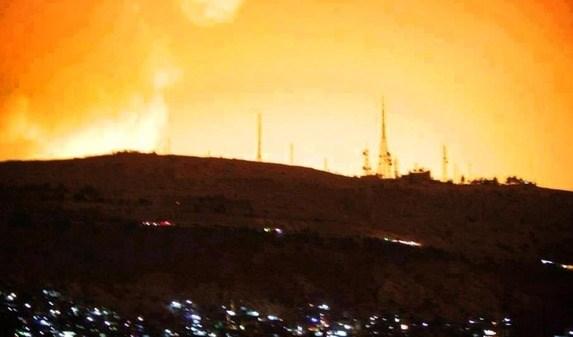 إسرائيل تقصف مركز البحوث العلمية التابع للنظام في محيط دمشق