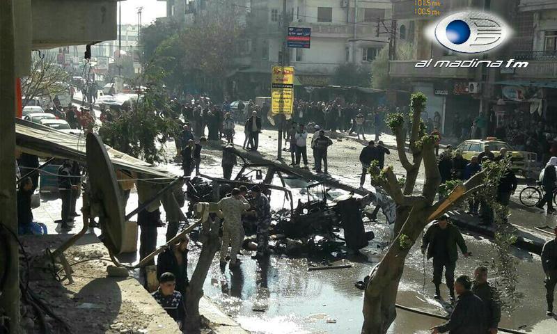 داعش يتبنى تفجير شارع الأهرام وسط حمص