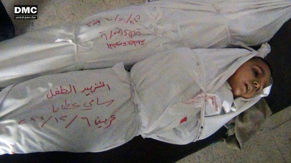 قصف مدفعي يحصد أرواح ثلاثة أطفال في الغوطة الشرقية