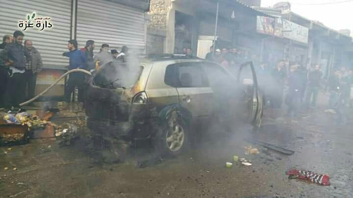 ضحايا في انفجار عبوة ناسفة وسط مدينة دارة عزة غربي حلب