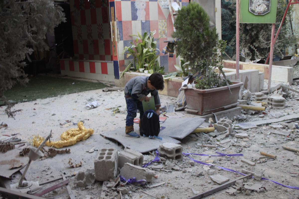 بعد مجازرهم بحق أطفال الغوطة،